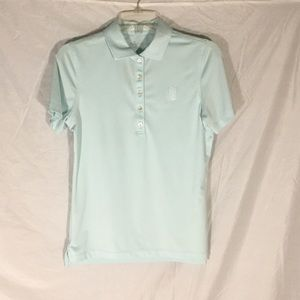 Peter Millar Short Sleeve Button Golf Polo EUC